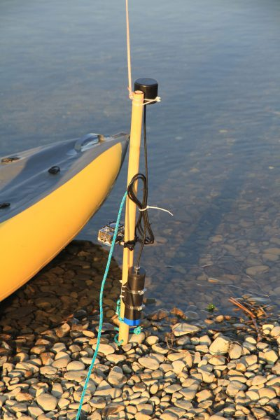 """Underwater GPS"" on two transceivers"
